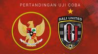 Uji Coba - Timnas Indonesia U-22 Vs Bali United (Bola.com/Adreanus Titus)