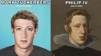 (Foto: Ancint Code) Mark Zuckerberg disangka penjelajah waktu karena mirip dengan Raja Spanyol Philip IV