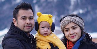 Raffi Ahmad dan Nagita Slavina beserta anaknya, Rafathar Malik Ahmad, bersama keluarga besarnya berlibur ke Eropa. (Foto:Instagram/raffinagita1717)