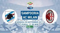 Serie A 2017 Sampdoria vs AC Milan (Bola.com/Adreanus Titus)