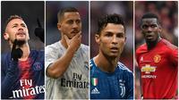 Perpindahan pemain dari satu klub ke klub lain di setiap bursa transfer menjadi momen yang ditunggu untuk diikuti. Nilai transfer pemain tersebut pun menjadi hal yang sangat menarik. Berikut 10 pemain yang dibeli dengan harga 100 juta euro lebih. (Kolase foto AFP)