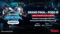 Streaming Grand Final GoPay Arena Level Up Community PUBGM di Vidio. (Sumber : dok. vidio.com)