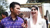 Ribuan tamu hadir dalam perniakahan putri Presiden Jokowi, Kahiyang Ayu dengan Bobby Nasution. Setelah akad nikah, acara dilanjutkan resepsi pernikahan yang digelar pada hari ini, Rabu (8/11/2017). (Adrian Putra/Bintang.com)