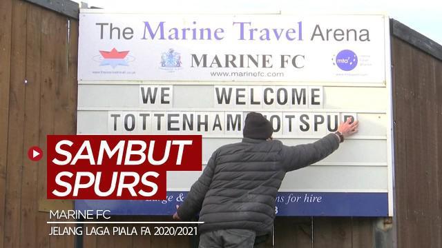 Berita video sebuah klub kecil di Merseyside, Marine FC, senang bisa menjamu Tottenham Hotspur untuk laga babak ketiga Piala FA 2020/2021.