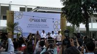 Presiden Joko Widodo (Jokowi) meresmikan Halal Park di Kompleks Gelora Bung Karno (GBK), Senayan Jakarta, Selasa (16/4/2019).