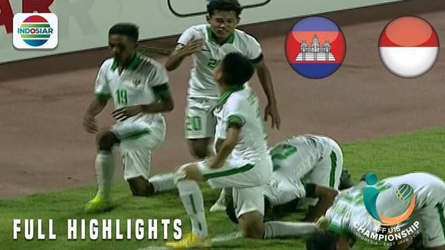 Berita video gol-gol Timnas Indonesia ke gawang Kamboja pada laga terakhir Grup A Piala AFF U-16 2018, Senin (6/8/2018).