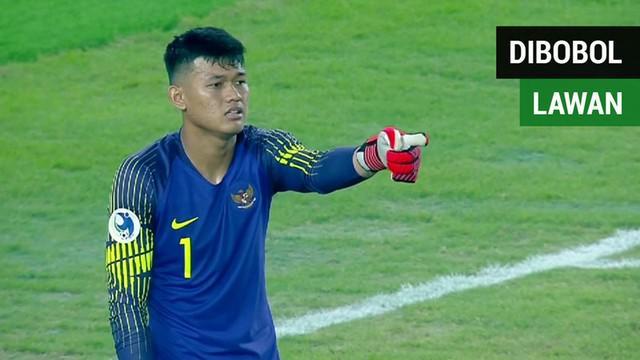Berita video gol-gol tim lawan ke gawang Timnas Indonesia U-19 pada fase grup Piala AFC U-19 2018.
