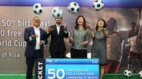 Jajaran petinggi Citibank Indonesia dalam sesi konferensi pers program bertajuk Fly Free to 2018 FIFA World Cup. (citibank indonesia)