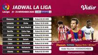 Liga Spanyol pekan ke-10 dapat disaksikan melalui platform streaming Vidio. (Sumber: Vidio)