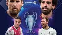 Banner Infografis Berebut Tiket Final Liga Champions. (Sumber Foto: AFP)