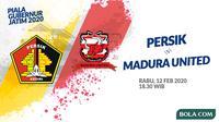 Piala Gubernur Jatim - Persik Kediri Vs Madura United (Bola.com/Adreanus Titus)