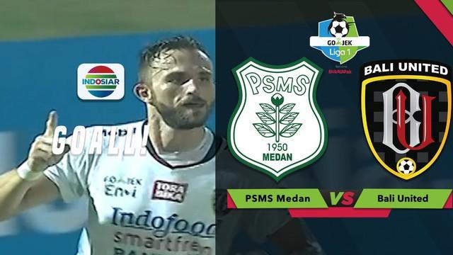Berita video momen gol Ilija Spasojevic saat Bali United menang 2-1 atas PSMS Medan dalam lanjutan Liga 1 2018 bersama Bukalapak, Sabtu (28/7/2018).