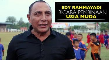 Video calon Ketua Umum PSSI Edy Rahmayadi membicarakan tentang pembinaan usia muda di Indonesia.