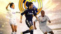 Real Madrid - Christian Panucci, Antonio Cassano, Fabio Cannavaro (Bola.com/Adreanus Titus)