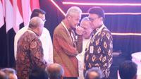 Menteri Dalam Negeri (Mendagri) Tjahjo Kumolo bersama Menteri Pekerjaan Umum dan Perumahan Rakyat (PUPR) Basuki Hadimuljono menghadiri  Pembukaan Musrenbang Nasional yang dibuka langsung oleh Presiden Joko Widodo di Hotel Shangri-La, Jakarta, Kamis (09/05/2019).
