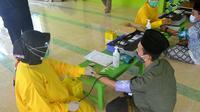 Santri penyintas Covid-19 di Pondok Pesantren El Bayan, Majenang, Cilacap, siap mendonorkan plasma konvalesen untuk pasien Covid-19. (Foto: Liputan6.com/Muhamad Ridlo)