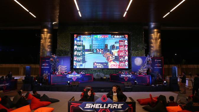 Sadu Fate sedang bertanding di turnamen ShellFire Tournament. (Doc: Telkomsel)