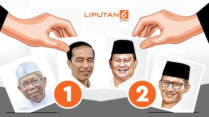 Hitung Cepat Litbang Kompas 93,05: Jokowi 54,51, Prabowo 45,49