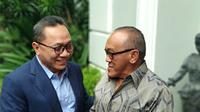 Ketua Umum DPP PAN Zulkifli Hasan bertermu Aburizal Bakrie.