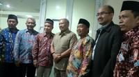 3 calon wakil gubernur DKI Jakarta pengganti Sandiaga Uno silaturahmi ke Fraksi Demokrat dan F PAN DPRD DKI. (Liputan6.com/ Ika Defianti)