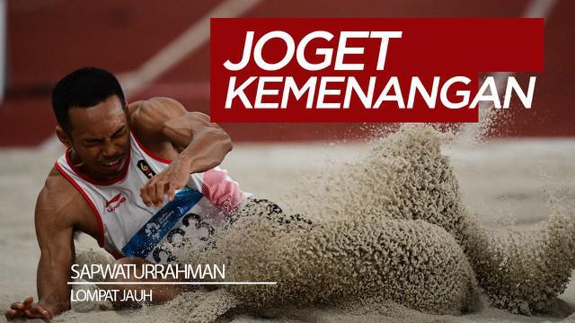 Berita video aksi Sapwaturrahman atlet lompat jauh putra Indonesia yang melakukan joget kemenangan unik usai memecahkan rekor dan meraih medali emas pada SEA Games 2019.