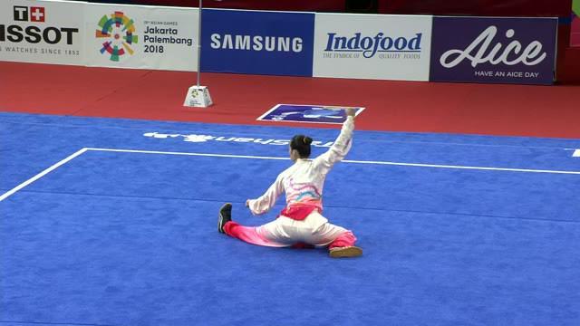 Medali pertama bagi kontingen Indonesia diraih dari cabang olahraga wushu. Marvelo Edgar Xavier yang turun pada nomor Cangquan Putra mengumpulkan 9,72 poin dan berhak untuk mendapatkan medali perak Asian Games 2018.