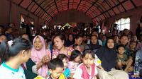 Para korban bencana alam di Bogor mengungsi di tempat lebih aman. (Liputan6.com/Achmad Sudarno)