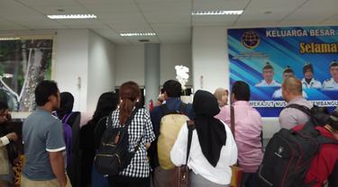 Antrean penumpang pesawat di Bandara Juwata, Kota Tarakan.