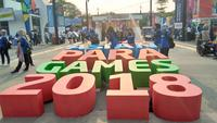 Kawasan Gelora Bung Karno (GBK) jelang opening ceremony Asian Para Games 2018. (Liputan6.com/Cakrayuri Nuralam)