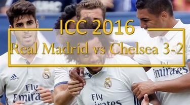 Marcelo berhasil mencetak 2 gol saat Real Madrid menang 3-2 melawan Chelsea di turnamen ICC 2016.