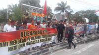 Masyarakat Kalteng siap berada di garda terdepan membantu pemerintah untuk membubarkan FPI. (Liputan6.com/Rajana K).