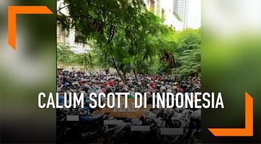 """Ada satu hal tentang Indonesia yang masih membuat penyanyi """"You Are The Reason"""" ini cukup terkejut. Yakni soal parkiran motor di Indonesia."""