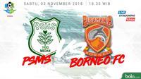 Liga 1 2018 PSMS Medan Vs Pusamania Borneo FC (Bola.com/Adreanus Titus)