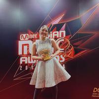 Marion Jola di MAMA 2018. (dok. Instagram @lalamarionmj/https://www.instagram.com/p/BrNNIfonffd/Asnida Riani)