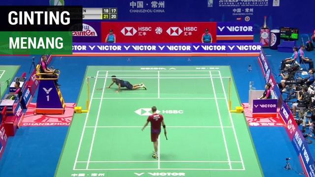 Berita video tunggal putra Indonesia, Anthony Ginting, sudah dua kali mengalahkan lawan berat di China Terbuka 2018.