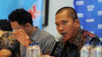 Dalam diskusi yang membahas Pilkada langsung atau tidak langsung, politisi PAN, Yandri Susanto menambahkan tingginya biaya pilkada langsung menjadi preseden baik bagi pemerintahan Jokowi-JK untuk penghematan, (13/9/14). (Liputan6.com/Herman Zakharia)