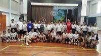 Bintang-bintang Srikandi Cup Berbagi Ilmu kepada Pelajar Pekanbaru (ist)
