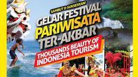 Anak muda Indonesia makin peduli dengan pariwisata tanah airnya dengan menggelar Festival Pariwisata Ter-Akbar.