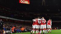 Arsenal merayakan gol setelah membobol gawang Chelsea. (doc. Arsenal FC)