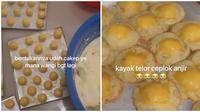 Kue Nastar Berubah Jadi Bentuk Telur Ceplok. (Sumber: TikTok/ @noviahnn)