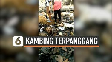 Warga lupa mematikan api saat memasak dengan kayu bakar, sebuah rumah di Klaten, Jawa Tengah ludes terbakar.