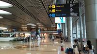 Terminal 4 Bandara International Changi di Singapura. (Ilyas/Liputan6.com)