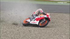 Video kompilasi Marc Marquez pebalap MotoGP dari tim Repsol Honda saat berhasil selamat dari kecelakaan di lintasan MotoGP seperti di Assen, Belanda.