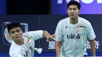 Ganda putra, Angga Pratama/Ricky Karanda Suwardi, merupakan satu dari tujuh wakil Indonesia yang lolos ke babak kedua Denmark Terbuka 2016, Kamis (20/10/2016). (PBSI)