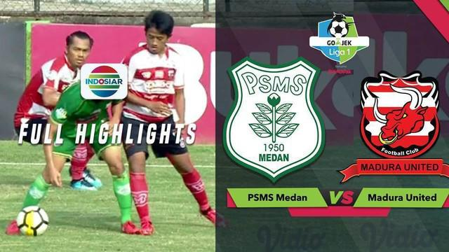 Berita video highlights lanjutan Gojek Liga 1 2018 bersama Bukalapak antara PSMS Medan melawan Madura United yang berakhir dengan skor 3-3, Sabtu (17/11/2018).