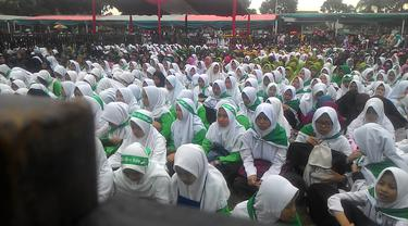 Ribuan massa simpatisan Jokowi-Maruf Amin kabupaten Garut, saat pilpres 2019 beberapa waktu lalu