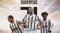 Juventus - Leonardo Bonucci, Giorgio Chiellini, Juan Cuadrado (Bola.com/Adreanus Titus)