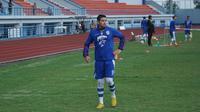 Esteban Vizcarra mulai berlatih bersama tim Persib Bandung pasca pemulihan cedera lutut. (Liputan6.com/Huyogo Simbolon)