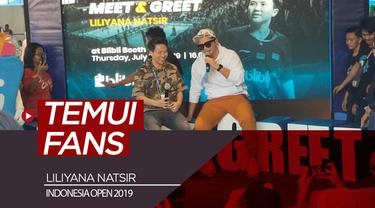 Berita video Liliyana Natsir (Butet) menemui fans dalam acara meet and greet di Indonesia Open 2019.