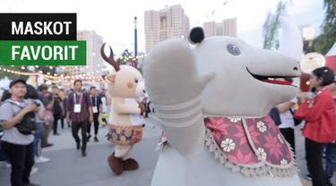 Berita video maskot Asian Games 2018 yang menjadi favorit pilihan para wanita yang menjadi pengunjung GBK.